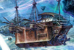 Пиратский корабль шураков Стальной плавник в aion