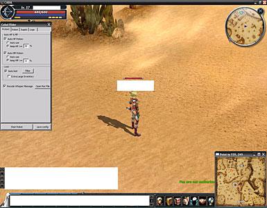 Пример использования бота в кабал онлайн