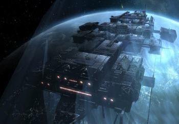 Модель корабля в игре, похожей на Eve online