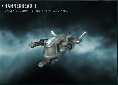 Боевой дрон Hammerhead I Eve online