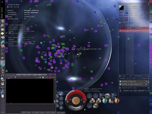 Cражение между корпорациями в Eve online