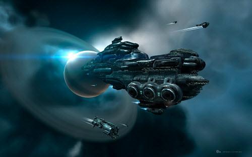 Красоту кораблей в Eve online словами не передать