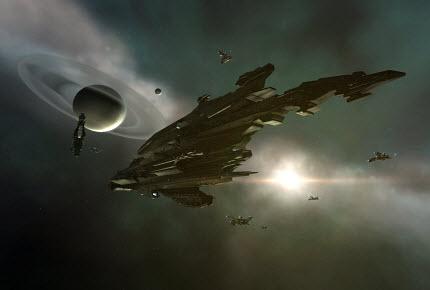 Могучий титан расы Caldari в Eve online