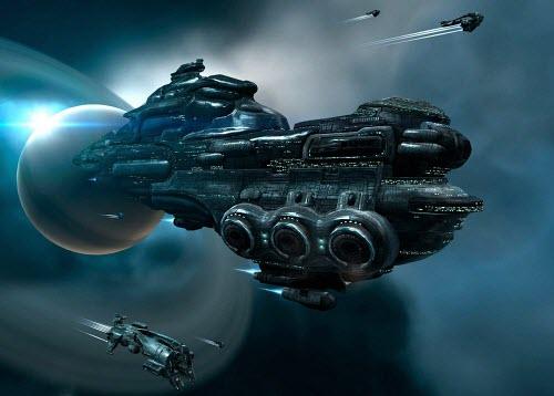 Перевозка большого груза в Eve online всегда требует хорошей охраны