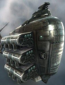 Eve корабль с гипердвигателем Anshar