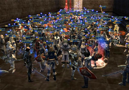 Огромное количество игроков на руоффе в ла2
