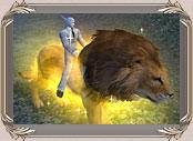 Большой золотой лев pw