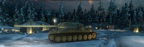 Тяжелый танк ис7 в ночном ангаре wot