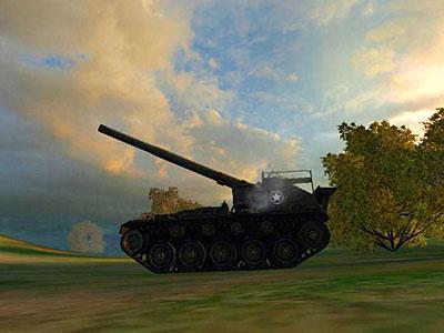 САУ м41 в бою wot