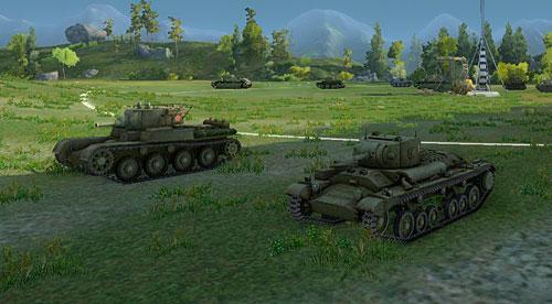 Легкий танк валентин перед началом боя world of tanks