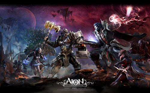 Заставка игры Aion