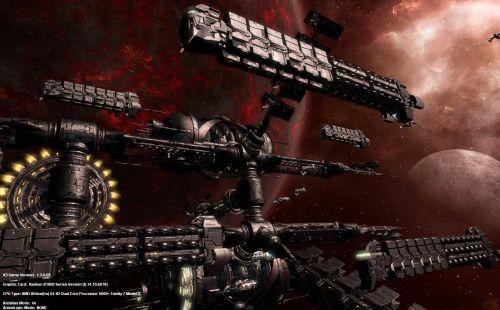 Управление кораблей в игре, похожей на Eve online