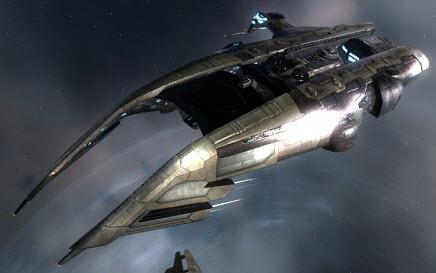 Eve заградительный корабль Heretic