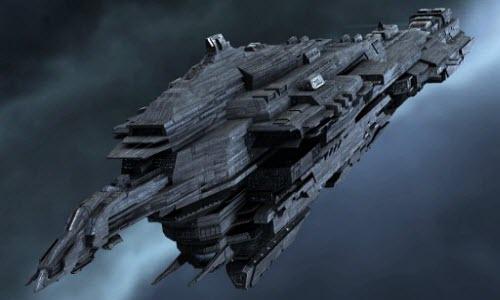 Титан вселенной Eve online под названием Leviathan