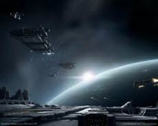 Прекрасный космос игры Eve online
