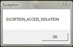 Exception access violation r2 online