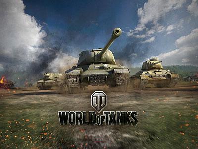 Танки  едут в бой в world of tanks