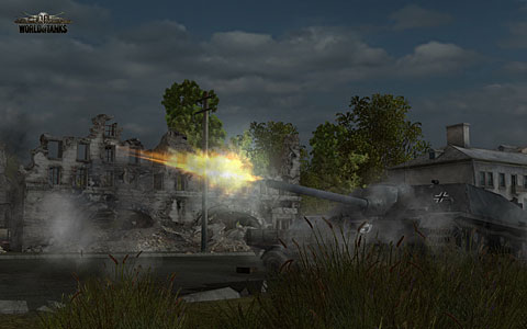 Момент  выстрела в world of tanks